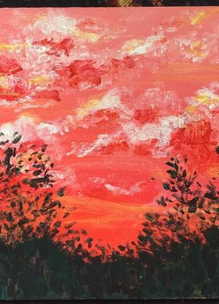 Картина акриловые краски 15х15