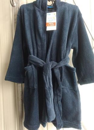 Банный халат для мальчика 110/116  kiki & koko