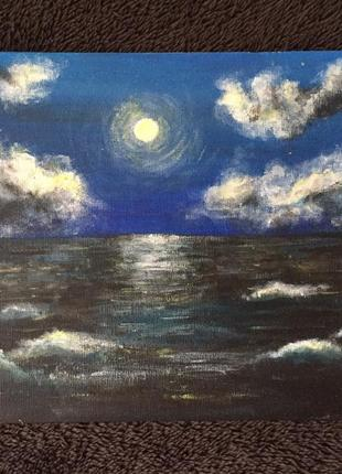 Картина холст на картоне акриловые краски