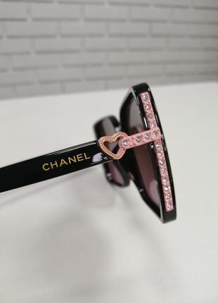 Женские солнцезащитные очки ch с камнями4 фото