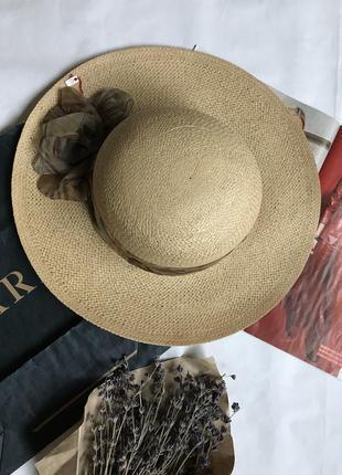 Трендовая шляпка шляпа из натуральной соломы италия 🇮🇹