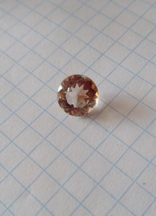 Натуральный камень 9,2 мм круг (не бижутеоия) топаз цвет шампань происхождение бразилия
