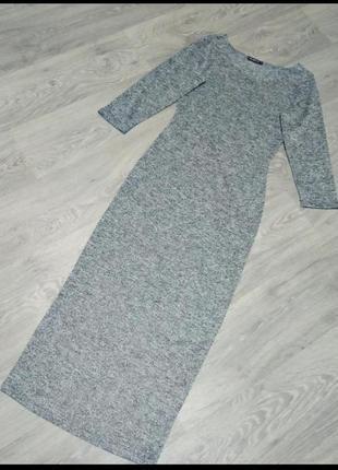 Платье миди. трикотажное платье.