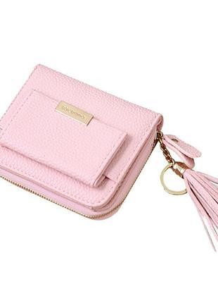 e217fcfc8ddf Маленький складной женский кошелек, цвет светлый розовый, цена - 200 ...