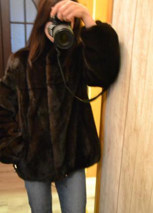 Норковый полушубок автоледи magic furs р. s-m