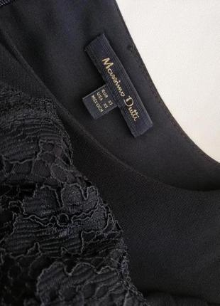 Красивое платье massimj dutti c кружевом, размер xs,s