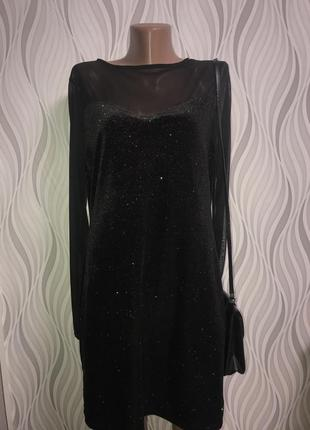 Платье star блестки вечернее сетка