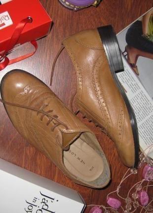Туфли ботиночки на низком каблуке со шнуровкой, new look, км0935