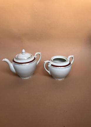 Чайник и сахарница набором ссср