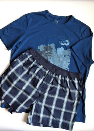Пижама livergy,комплект домашний,шорты и футболка