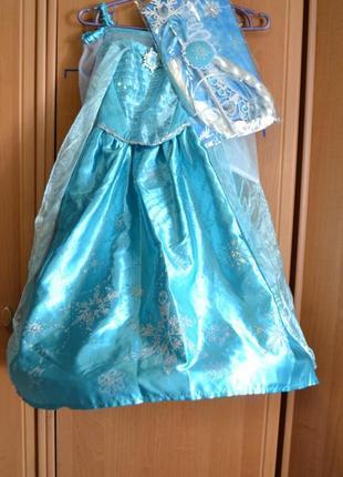 Карнавальный костюм эльза на 4-5 лет, платье эльза, холодное сердце