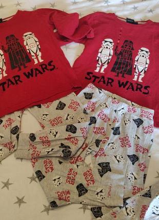 Набор из 2-х комплектов пижам primark star wars на малыша 5-6 лет