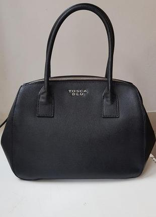 Сумка tosca blu оригинал, кожаная сумка tosca blu, кожа сафьяно, шикарная сумка tosca blu