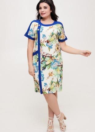 Платье летнее льняное