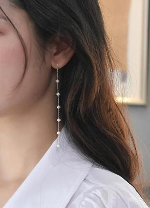 Сережки з натуральних перлин / серьги из натурального жемчуга
