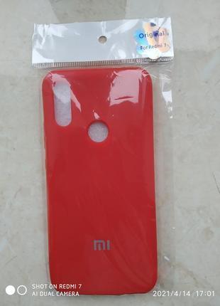 Чехол silicone cover для xiomi redmi 7
