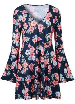 Платье,туника в цветы