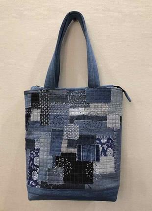 Ручная работа джинсовая сумка handmade