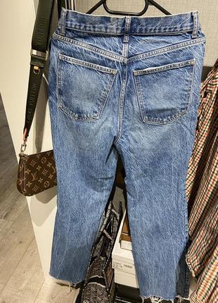 Шикарные широкие джинсы клёш с разрывами zara 20217 фото