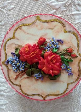 "Шкатулка ""розы и незабудки"""