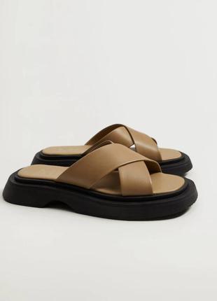 Трендовые кожаные сандали mango p.37