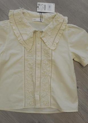 Продам блузку рубашка  zara для девочки