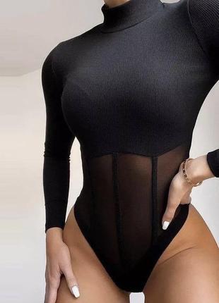 Черный боди с корсетом !!!новый!!!!