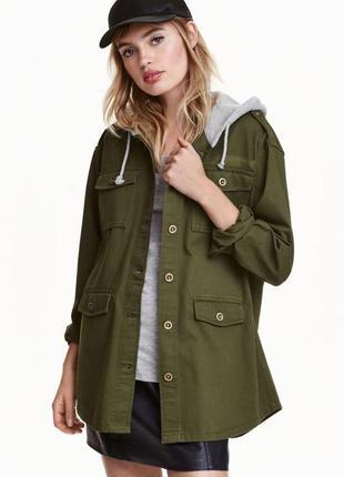 Куртка-рубашка с капюшоном h&m