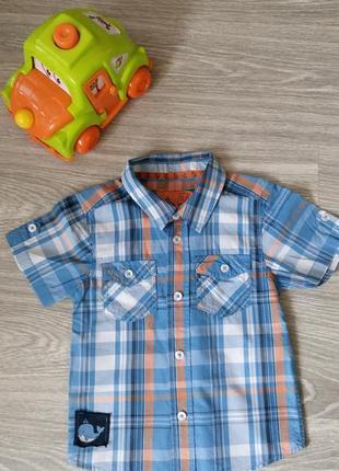Фирмовая рубашка sainsbury´s  с коротким рукавом 2 года