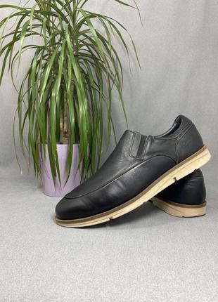 Мужские туфли на резинках cinnamon made in spain 44 р., натуральная кожа