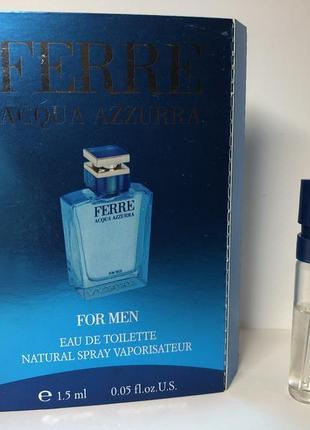 Фирменный пробник gianfranco ferre acqua azzurra, 1,5 ml