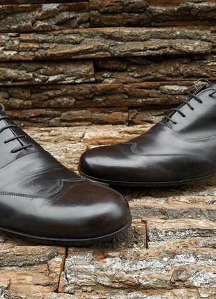 Оксфорды emporio armani 43 44 размер туфли броги натуральная кожа