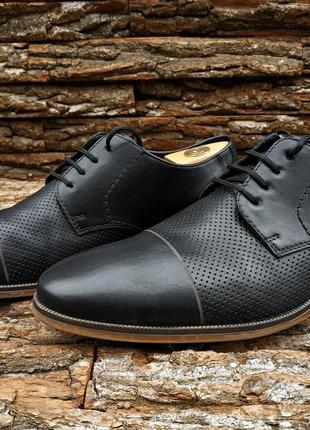 Дерби rieker 45 46 размер туфли мужские кожа