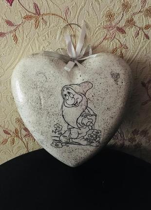 Сердце - подвеска интерьерное