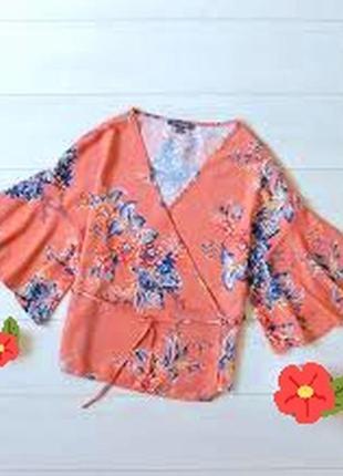 Блуза на запах с красивым рукавом m,l,xl1 фото