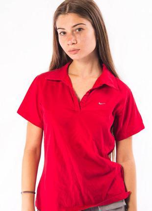 Футболка тенниска женская красная nike (l)