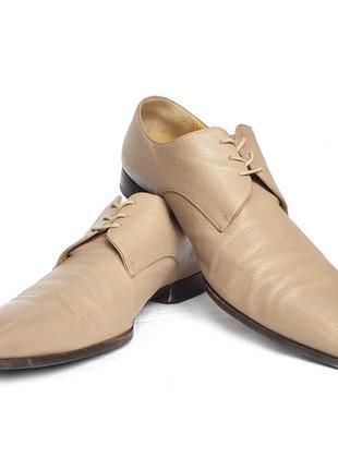 Раритетный люксовые узкие туфли дерби bally symeo derby shoes
