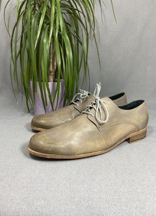 Мужские туфли zign 45-46 размер, made in portugal, натуральная кожа