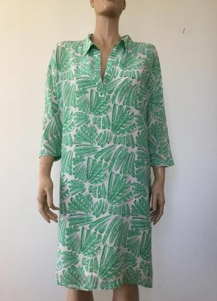 Шелковое платье -рубашка mary portas 16 (л-хл)
