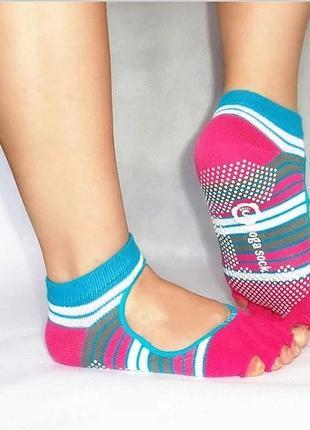 Нескользящие носки для спорта йога пилатес стрейчинг