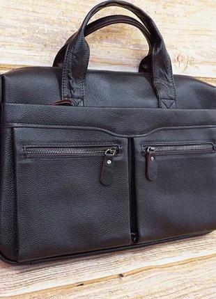 Красивый кожаный портфель, сумка для ноутбука и документов