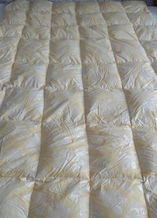 Пухова ковдра, пуховое одеяло полуторное, натуральный гусиный пух/перо