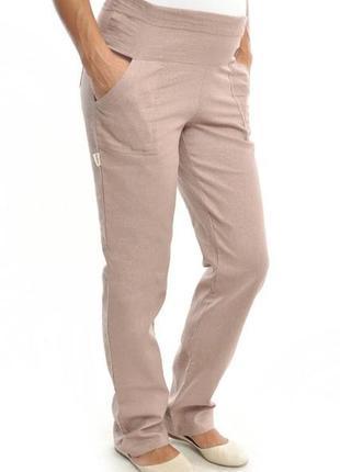 Летние брюки для беременных лен хлопок