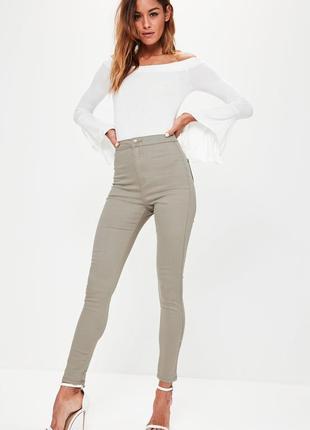 Джинсы скинни скини американки джинсовые легинсы высокая посадка missguided