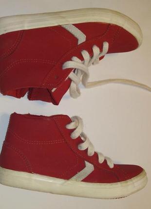 Кеды ботиночки красные стелька 20,5 см