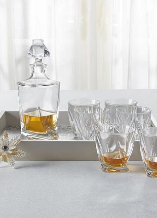 Набор для виски crystalite bohemia: графин и стаканы