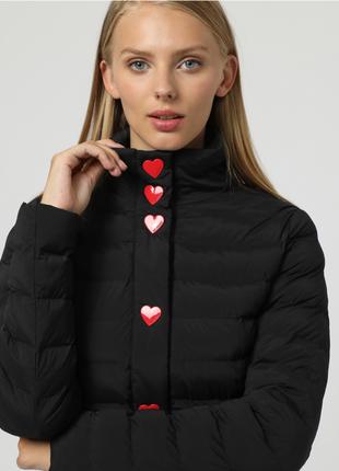 Новое пальто love moschino куртка пуховик оригинал стёганное