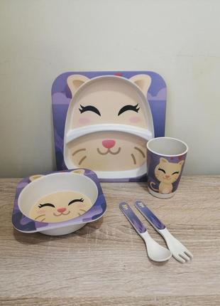 Посуд котик бамбукового волокна бамбук
