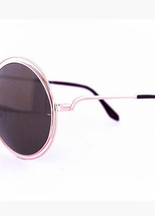 Круглые зеркальные очки оверсайз цвет линз: зеркальный оранжевый