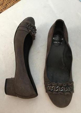 Туфли кожаные idea shoes. замшевые